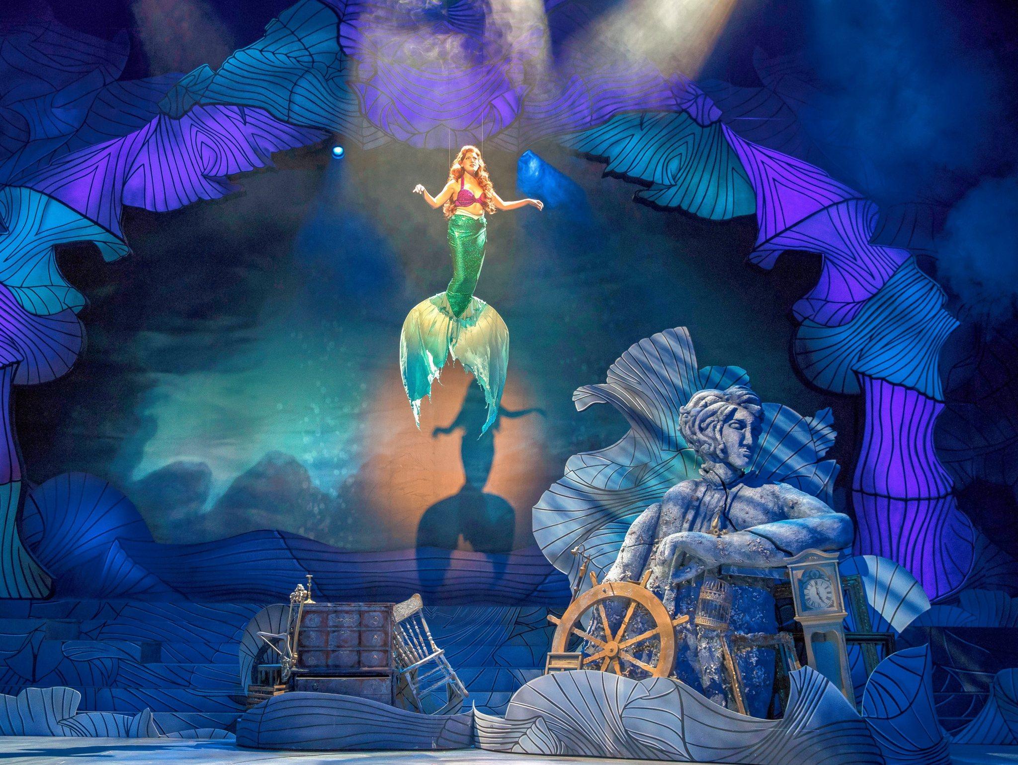 "f1e5feddd7add Kari Yancy plays Ariel in Paramount Theatre's beguiling revival of Disney's  ""The Little Mermaid,"" running through Jan. 15. (Courtesy of Liz Lauren)"