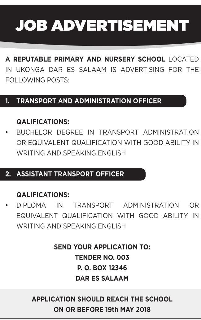 Job Vacancies At Reble Primary And